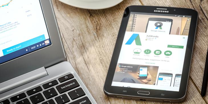encontrar os anúncios do Google Adwords